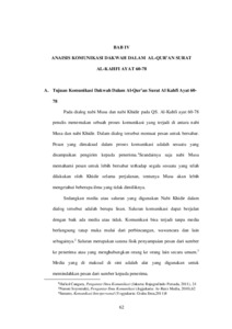Komunikasi Dakwah Dalam Al Quran Surat Al Kahfi Ayat 60 78